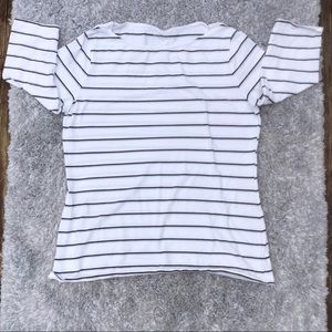 Women's Merona 3/4 sleeve scoop neck stripe shirt